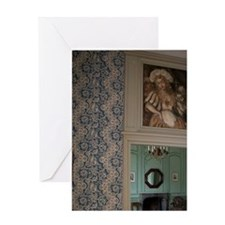 Interior of the Chateau of Chatauneu Greeting Card