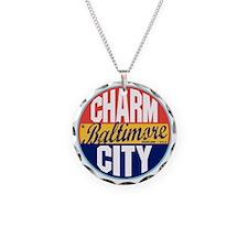 Baltimore Vintage Label W Necklace