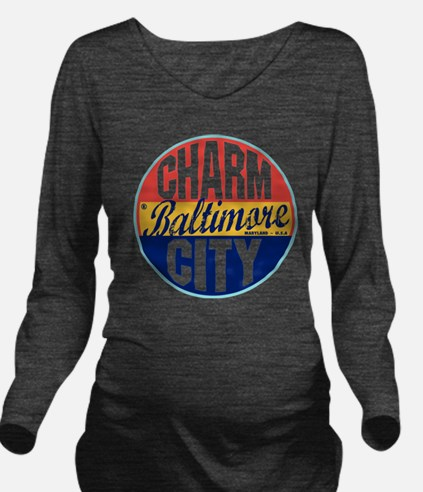 Baltimore Vintage La Long Sleeve Maternity T-Shirt
