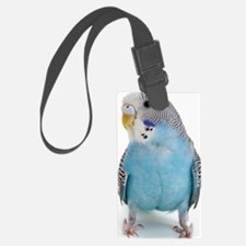 blue parakeet Luggage Tag