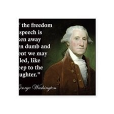 "george-washington-freedom-o Square Sticker 3"" x 3"""
