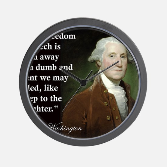 george-washington-freedom-of-speech-quo Wall Clock