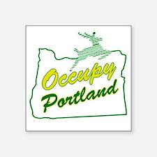 """Occupy Portland Square Sticker 3"""" x 3"""""""