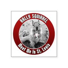 """squirrel_st-louis_02_smalle Square Sticker 3"""" x 3"""""""