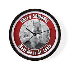 squirrel_st-louis_02_smaller Wall Clock