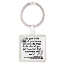 Tutu Good Quote Square Keychain