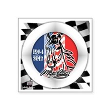 """MUSTANGHORSE201264flags Square Sticker 3"""" x 3"""""""