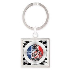 MUSTANGHORSE201264flags Square Keychain