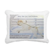 SpinoneHolidayCard Rectangular Canvas Pillow