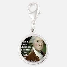 george-washington-freedom-of-s Silver Round Charm