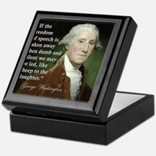 george-washington-freedom-of-speech-q Keepsake Box