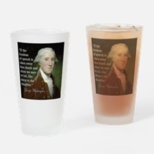 george-washington-freedom-of-speech Drinking Glass