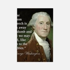 george-washington-freedom-of-spee Rectangle Magnet