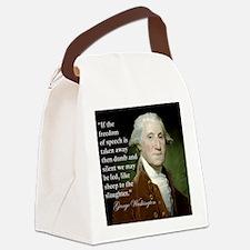 george-washington-freedom-of-spee Canvas Lunch Bag