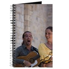Saintes-Maries-de-la-Mer. Dancer and music Journal