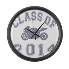 CO2014 Superbike Gray Distressed Large Wall Clock