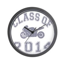 CO2014 Superbike Gray Distressed Wall Clock