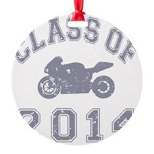 CO2014 Superbike Gray Distressed Ornament
