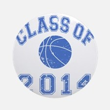 CO2014 Basketball Blue Distressed Round Ornament