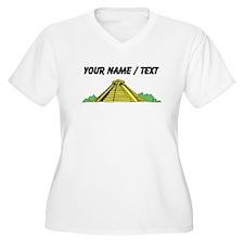 Custom Mayan Ruins Plus Size T-Shirt