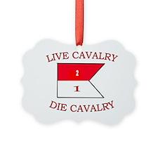2nd Squadron 1st Cavalry Cap3 Ornament