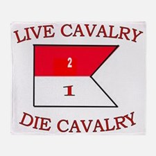 2nd Squadron 1st Cavalry Cap3 Throw Blanket