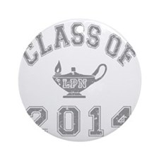 CO2014 LPN Gray Distressed Round Ornament