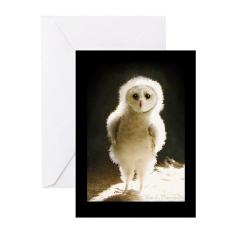 Baby WesleyTheOwl Greeting Cards (Pk of 10)