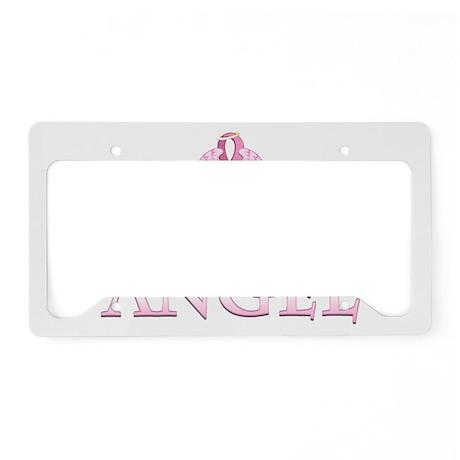 PinkGAngelTyHzSt License Plate Holder