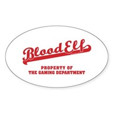 Blood Elf Oval Decal