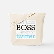 BossTwitter Tote Bag