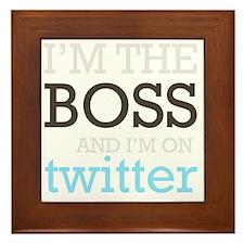 BossTwitter Framed Tile