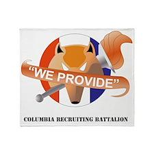 DUI - COLUMBIA RECRUITING BATTALION  Throw Blanket
