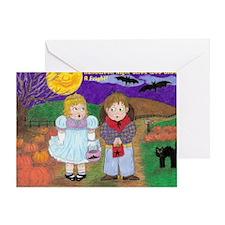 Halloween Vintage Drawing With Wordi Greeting Card