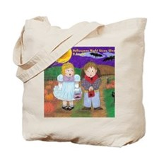 Halloween Vintage Drawing With Wording Tote Bag