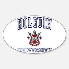 HOLGUIN University Oval Decal