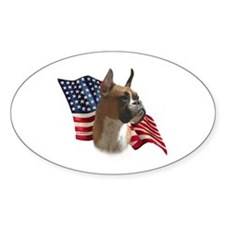 Boxer Flag Oval Decal