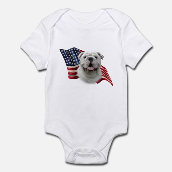 Bulldog Flag Infant Bodysuit