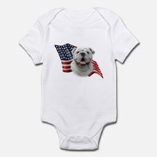 Bulldog Flag Onesie