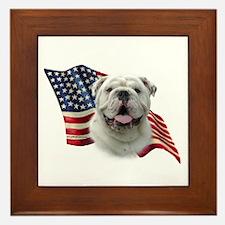 Bulldog Flag Framed Tile