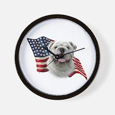 Bulldog Flag Wall Clock