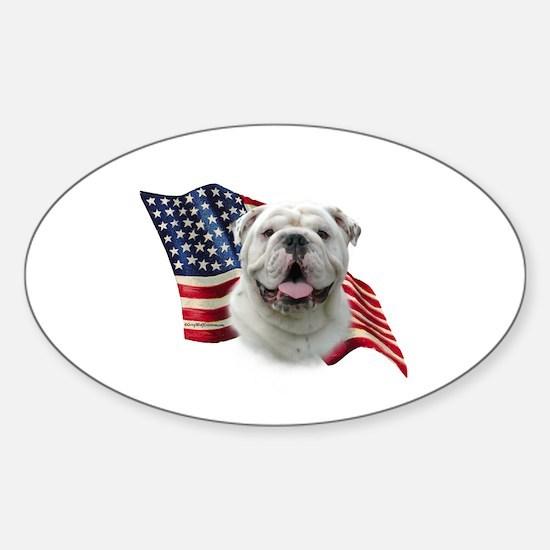 Bulldog Flag Oval Decal