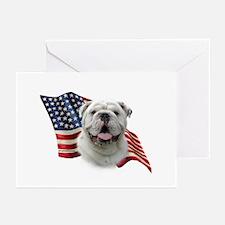 Bulldog Flag Greeting Cards (Pk of 10)