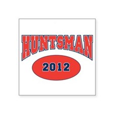"HUNTSMAN RED FONT Square Sticker 3"" x 3"""