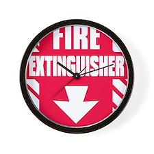 FireExting Wall Clock