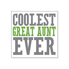 "Coolest Great Aunt Square Sticker 3"" x 3"""