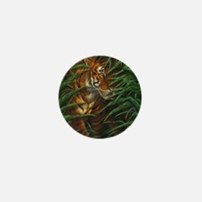 Tiger Stalking (low res) Mini Button