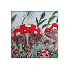 """toadstool10by10 Square Sticker 3"""" x 3"""""""