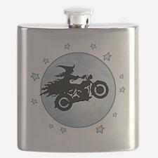 witch-biker-moon-T Flask