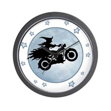 witch-biker-moon-T Wall Clock